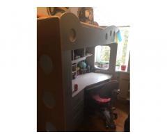 Детская двухъярусная мебель JYSK с матрасом + наматрасник в подарок