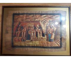 Картина на папирусе в декоративной раме