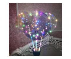 Светящийся воздушный шар на палочке Bobo с игрушками