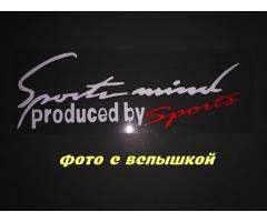 Наклейка на авто Sport mind produced by sports Белая с красным