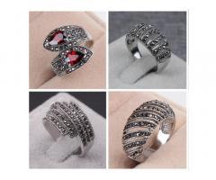 Роскошное женское кольцо, стерлинговое серебро