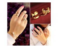 Оригинальные женские кольца, комплект 3 шт