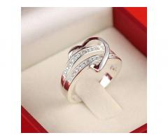 Колечко в форме сердца, стерлинговое серебро