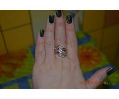 Роскошное многослойное женское кольцо