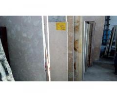 Слэб мраморный - зеркальный обрез целостного камня, огромная плита (3,3 х 1,8м)