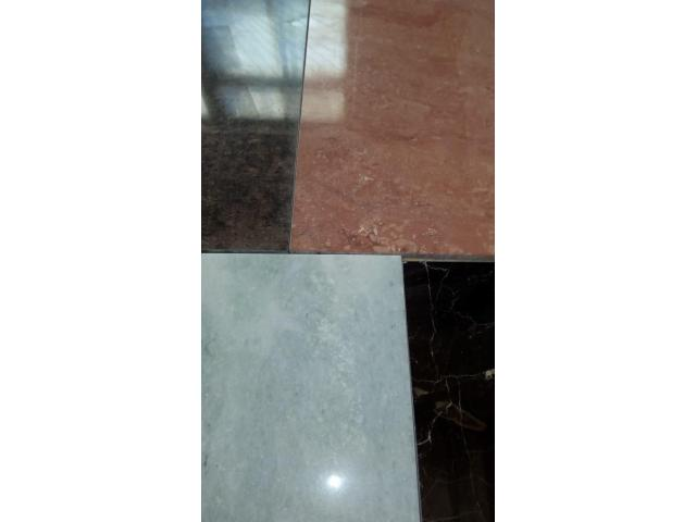 Слэб мраморный - зеркальный обрез целостного камня, огромная плита (3,3 х 1,8м) - 6/11