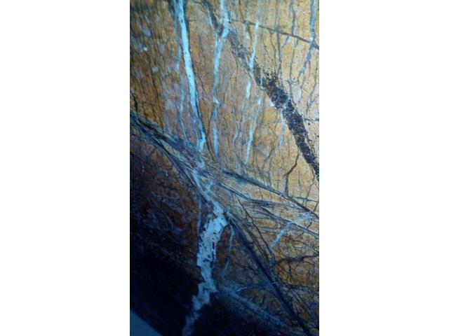 Слэб мраморный - зеркальный обрез целостного камня, огромная плита (3,3 х 1,8м) - 7/11