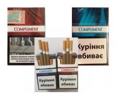 Сигареты Compliment (Red, Blue) оптовые цены
