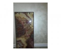 Отделка стен перегородок и полов мрамором или ониксом широкоформатным