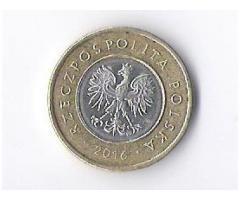 Продам недорого монету Польши, номиналом2 злотых. 2016 года.