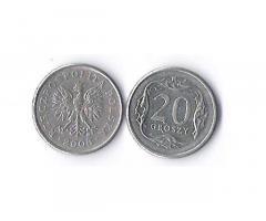 Продам недорого монету Польши, номиналом20 грошей.