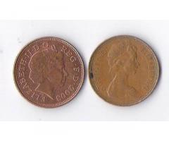Продам недорого монеты Англии,номиналом 2 пенса.