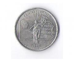 Продам недорого монеты из серии «Штаты США», номиналом 25 центов (quarter dollar).