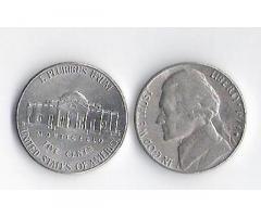 Продам недорого монеты США номиналом 5 центов.