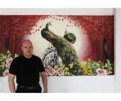 Роспись стен в интерьере от дизайн студии Романа Москаленко