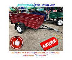 Легковий причіп Дніпро-170х130х40 та інші моделі від заводу виробника без посередників