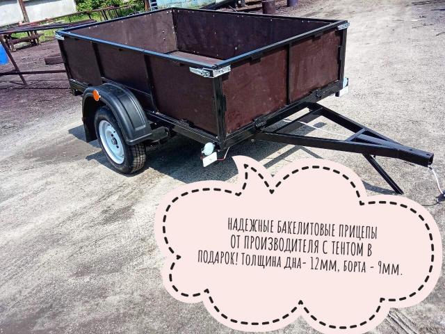 Купить прицеп легковой Днепр-230х130х50 усиленный бакелит - 1/1
