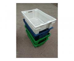 Харчові господарські пластикові ящики для м'яса молока риби ягід овочів у Житомирікупити
