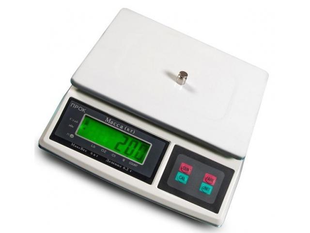 Фасовочные весы на 6 кг 217х175 мм - 1/1