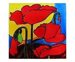 Украшения в интерьер - роспись по стеклу витражными красками
