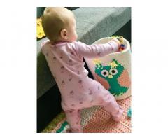 Детскаявязанная корзина для игрушек «Сова»