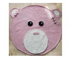 Розовыйковрик-мишка в детскую комнату:)