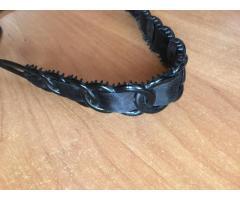 Повязка обруч с шелковой лентой
