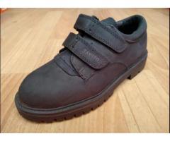 Детские туфли-ботинки турецкие нубук + кожа