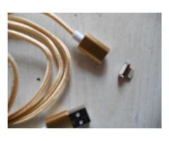 Продам новый iphone usb data кабель магнитный с индикацией заряда gold
