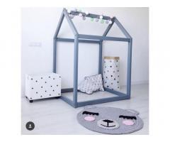 Милый коврик-мишка в детскую комнату. 100% хлопок!