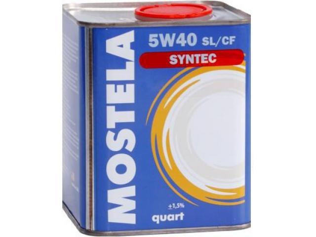 Масло моторное Mostela SYN-TEC SL/CF 5W-40 4л - продаю не дорого! - 1/1