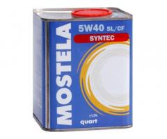 Масло моторное Mostela SYN-TEC SL/CF 5W-40 4л - продаю не дорого!