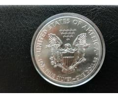 Продам Серебряную монету 1 доллар США .31.1 грамма серебра 999.9 пробы.