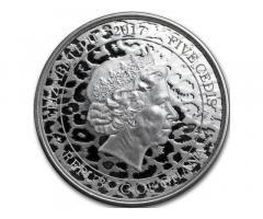"""Продам монету :Гана """"Леопард"""". Серебро 999.9 пробы. Тираж 100 экземпляров в мире"""