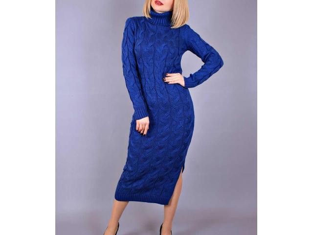 длинное вязаное платье лало под горло харьков