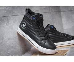 Зимние ботинки на меху Converse Waterproof, черные (30493), р. 41 - 45
