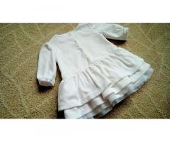Нарядное шикарное платье для крестин на 0-3+ мес