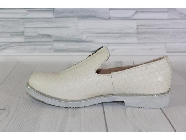 Натуральная кожа. Стильные молочные туфли 1838 - 2/4