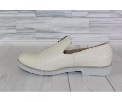 Натуральная кожа. Стильные молочные туфли 1838 - Изображение 2/4