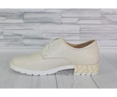 Натуральная кожа. Стильные молочные туфли 1839 - Изображение 2/4