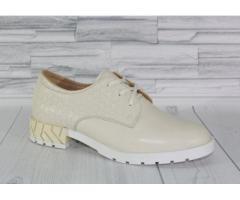 Натуральная кожа. Стильные молочные туфли 1839 - Изображение 3/4