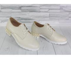Натуральная кожа. Стильные молочные туфли 1839 - Изображение 4/4