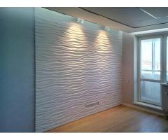 3d панели. Гипсовые стеновые декоративные 3д панели на стену