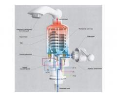 Проточный водонагреватель Delimano электрический на кран смеситель бойлер