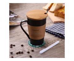 Керамическая чашка Starbucks Memo Старбакс Мемо с ложкой