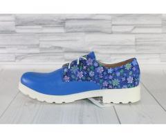 Натуральная кожа. Яркие синие туфли 1867 - Изображение 2/3