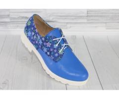 Натуральная кожа. Яркие синие туфли 1867 - Изображение 3/3