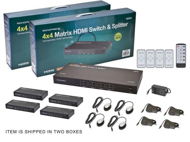 Сплиттер HDMI 1 на 2 с приемниками в комплекте, до 50 - 6/8