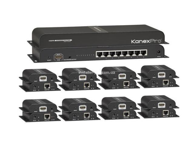 Сплиттер HDMI 1 на 2 с приемниками в комплекте, до 50 - 7/8