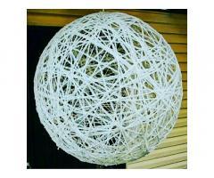 Люстра- шар из ниток